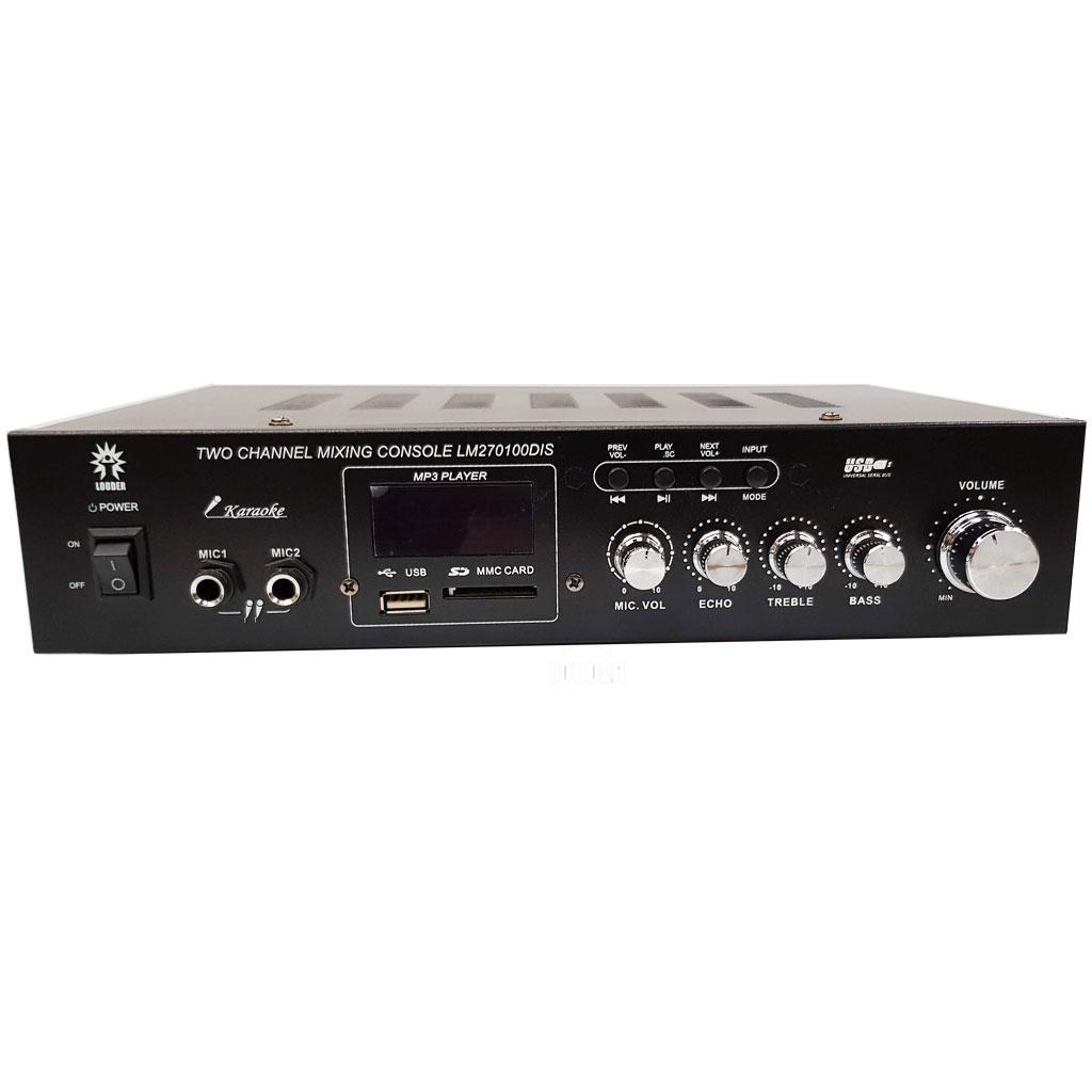 LM270100DIS Amplificador ambiental/perifoneo 70v 120v BT/USB/SD/FM