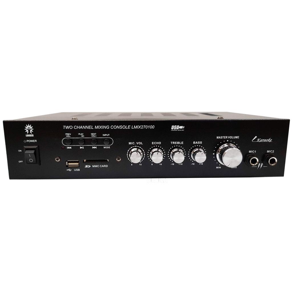 LMIX270100 Amplificador ambiental/perifoneo 75v 120v BT/USB/SD/FM