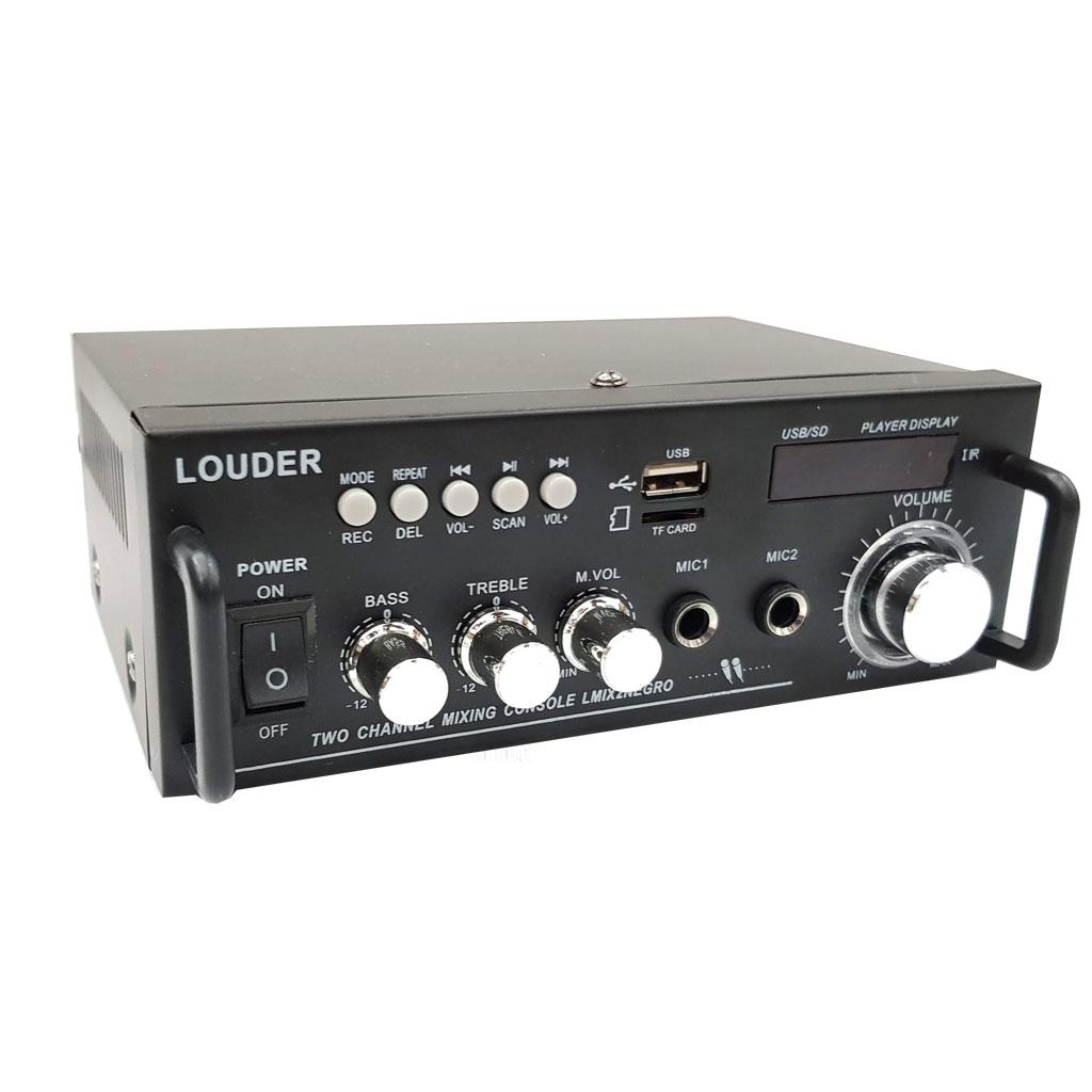 LMIX2NEGRO Amplificador ambiental/perifoneo BT/ST/USB/SD/FM