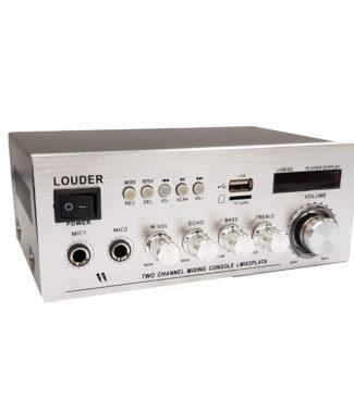 LMIX2PLATA Amplificador ambienta/perifoneo BT/ST/USB/SD/FM