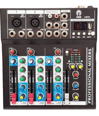 LMIX4 Mezcladora pasiva 4 entradas USB/BT/FX