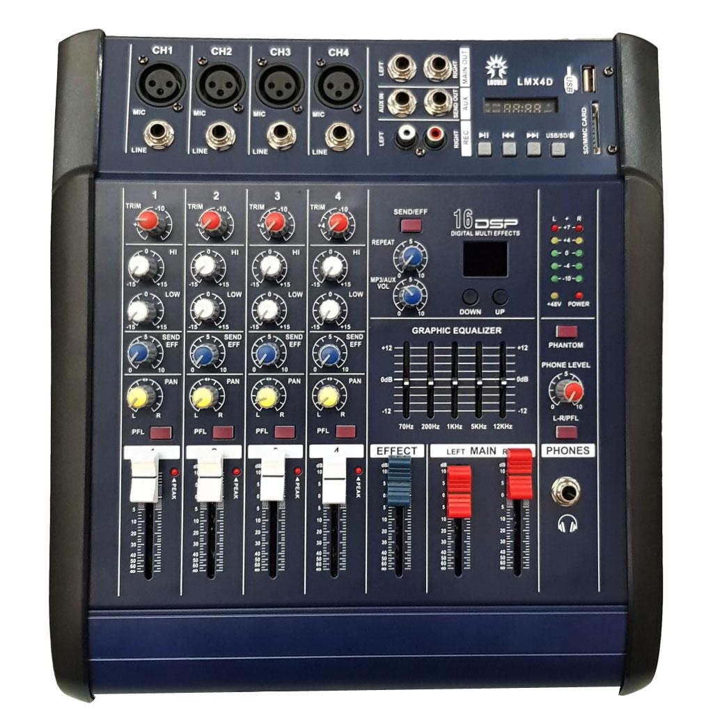 LMX4D Mezcladora amplificada 4 canales, 16 efectos DSP/bluetooth