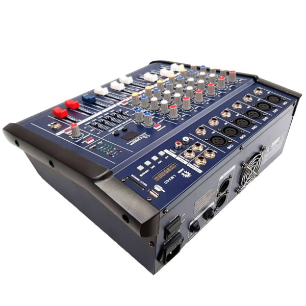 LMX6D Mezcladora amplificada 6 canales, 16 efectos DSP/bluetooth