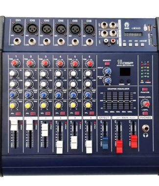 LMX4D Mezcladora amplificada 6 canales, 16 efectos DSP/bluetooth
