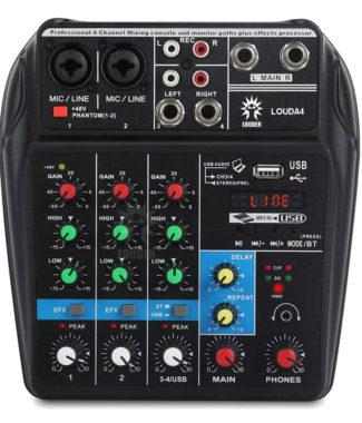 LOUDA4 Mezcladora Interface de audio USB/BT/PC