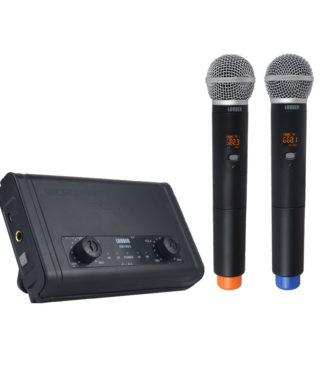 KM100D Set 2 Micrófonos Inalámbricos UHF multifrecuencia