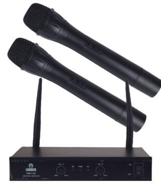 KM113D Set 2 Micrófonos Inalámbricos Vhf