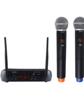 KM210D Set 2 Micrófonos Inalámbricos UHF multifrecuencia