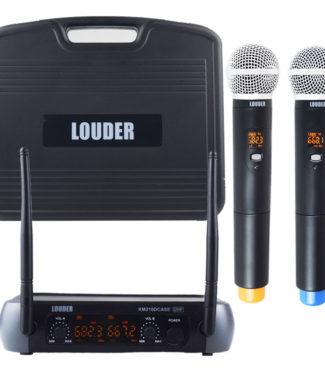 KM210DCASE Set 2 Micrófonos Inalámbricos UHF con case