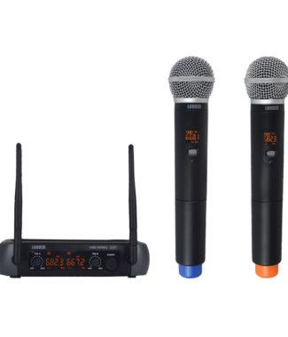 KM210DREC Set 2 Micrófonos Inalámbricos UHF Recargables