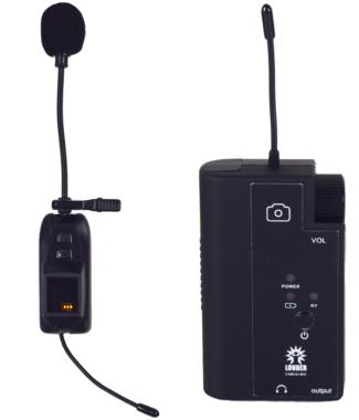 CAMCELMIC Set Micrófono Inalámbrico UHF Celular/camara DSLR
