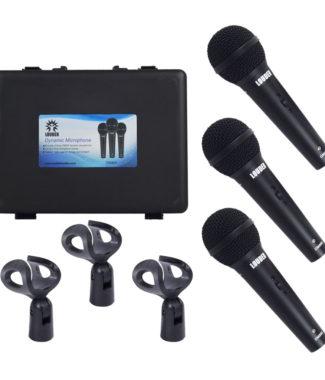 DM800 Juego de 3 Micrófonos Con Estuche y clips