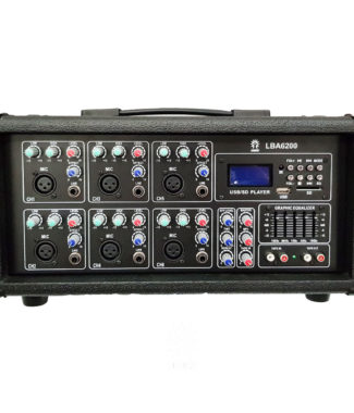 LBA6200 Mezcladora amplificada 6 canales bluetooth