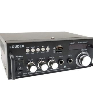 LMIX2NEGRO Amplificador ambienta/perifoneo BT/ST/USB/SD/FM