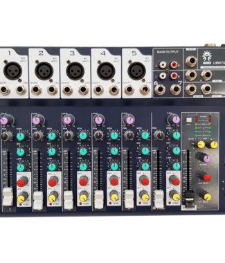 LMIX7U Mezcladora pasiva 7 entradas USB/FX/MP3