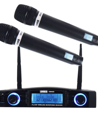 KM502D Set 2 Micrófonos Inalámbricos UHF / PLL multifrecuencia